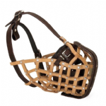 Leather Basket Muzzle with Steel Bar